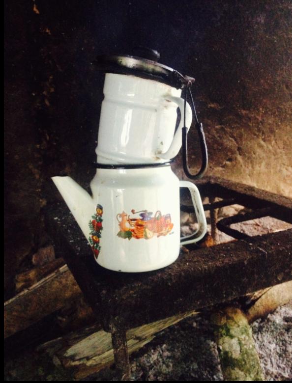 Cafetera de peltre